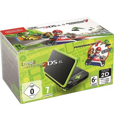 New Nintendo 2DS XL Negro & Verde Lima + Mario Kart 7