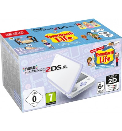 New Nintendo 2DS XL Blanco & Lavanda + Tomodachi Life