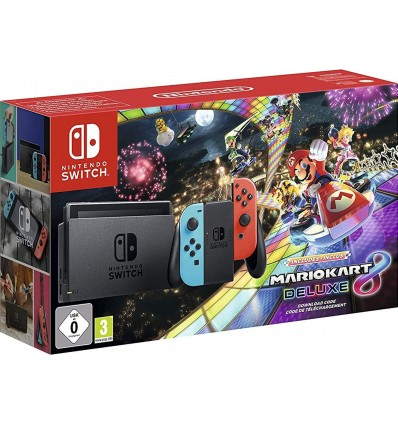 Nintendo Switch Neon + Mario Kart 8 Deluxe